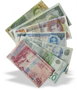 change foreign banknotes