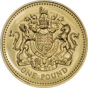 old £1 round coin